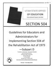 H13 - Utah Section 504 Guidelines