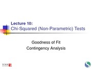 46 Lecture 10 - Goodness of Fit and Contingency Analysis
