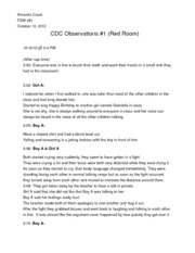 FSW 281- CDC Observations Notes #1
