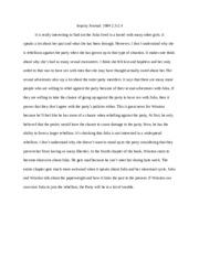 Morals essay
