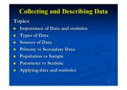 Collecting and Describing Data 1-2