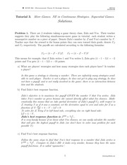 ECON 302 Fall 2014 Tutorial 3 Solutions