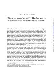 """New terms of worth""- The Inclusive Economics of Robert Frost's Poetry.pdf"