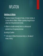Inflation..