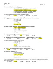 Mason, CHEM 1305, Exam 1 Key