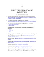 Early Christianity and Byzantium Art: Notes