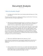 Doc Analysis Questions - What the Buddha Taught.docx