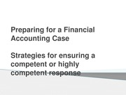 Writing a Financial Accounting Case