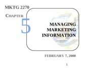 Intro Mktg - 05 - Marketing Research - ch 5