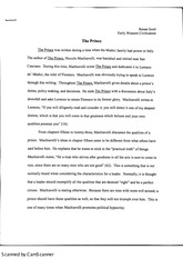 the prince essay