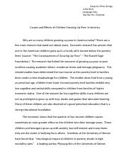 causes and Effects of Children growing up poor in America Essay by Chloe Zuniga.docx