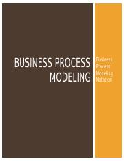 Class 02 LECTURE Business Process Modeling