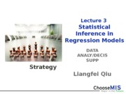 3_Statistical Inference in Regression Models