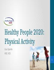 HP2020- Physical Activity
