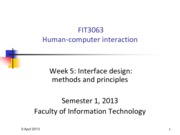 FIT3063-4063 S12013 Lecture 5 - Interface design methods and principles