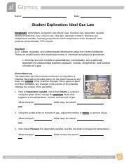 Chem. Gizmo.pdf - Name Madison Mcmillen Date Student ...