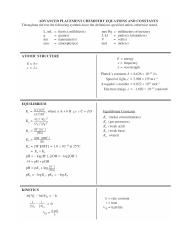 AP CHEM Equation Sheet - ADVANCED PLACEMENT CHEMISTRY ...