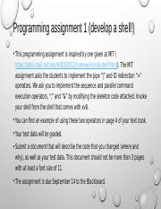 F16 Programming assignment 1 (develop a shell!)(2)