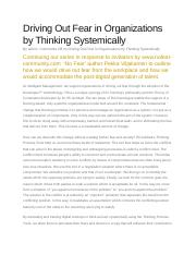 Driving Out Fear in Organizations by Thinking Systemically.docx