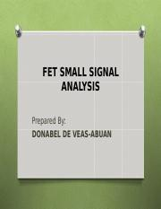 FET SMALL SIGNAL ANALYSIS.ppt