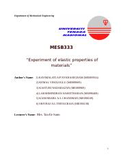 Full Report- Experiment of elastic properties of materials.docx