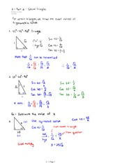 2.1 Part 2 -Special Triangles