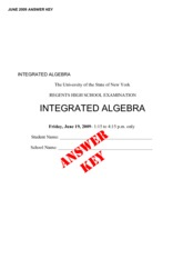 Integrated Algebra Practice Exam 2 with Answers