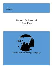 Week 1-2 WORLD WIDE TRADING COMPANY Team Four Proposal NO NAME.docx