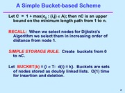 Bucket-based Scheme notes