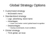 Business 1000 Chapter 3 Global strategy