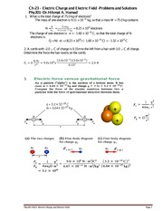 Solved Problems-Ch23A-Electric Forces new Fall 2014-2015