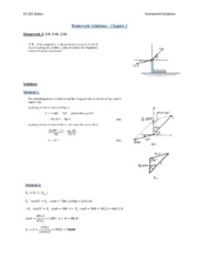 ES 201 Homework 2, 3, 4, 5 Solutions_Chapter 2