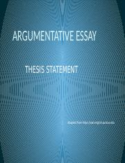 purdue owl argumentative thesis Argumentative essay guidelines argumentative essays must establish a clear thesis and follow sound purdue online writing lab.