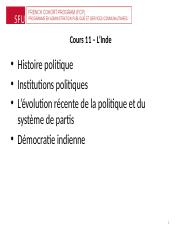 POL 359 Cours 11 - (2016)