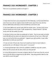 Worksheets Finance 3101 Chapters 1,3,4,5 050216.doc