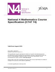 CfE_CourseSpec_N4_Mathematics_Mathematics
