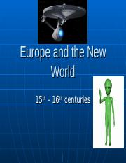 Europe_and_the_New_World.ppt
