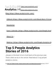 Top 5 People Analytics Stories of 2016