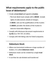 What requirements apply to the public issue of debentures.docx