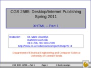 XHTML - Part 1