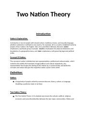 Two Nation Theory.docx