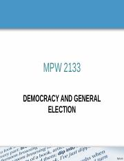MPW 2133 - CH3 -- Election