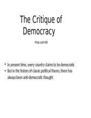 Lecture 6 - The Critique of Democracy.pptx