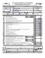 S Corp tax return problem Form 1120S