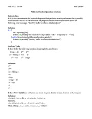 CSE 2011Z 2010W Midterm Practice Question Solutions