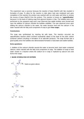 Organic chemistry lab report- Saponification