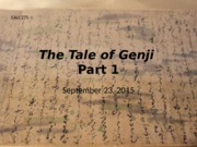 Sept 23 Tale of Genji 1