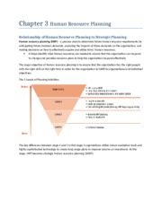 Chapter 3 Human Resource Planning