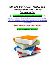 CIT 276 Configure, Verify, and Troubleshoot GRE Tunnel Connectivity.doc