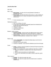 Exam One Review Sheet